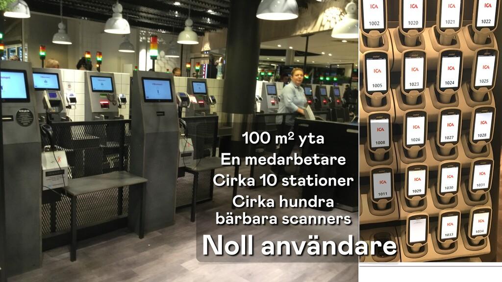 100 m2 yta En medarbetare Cirka 10 stationer Ci...