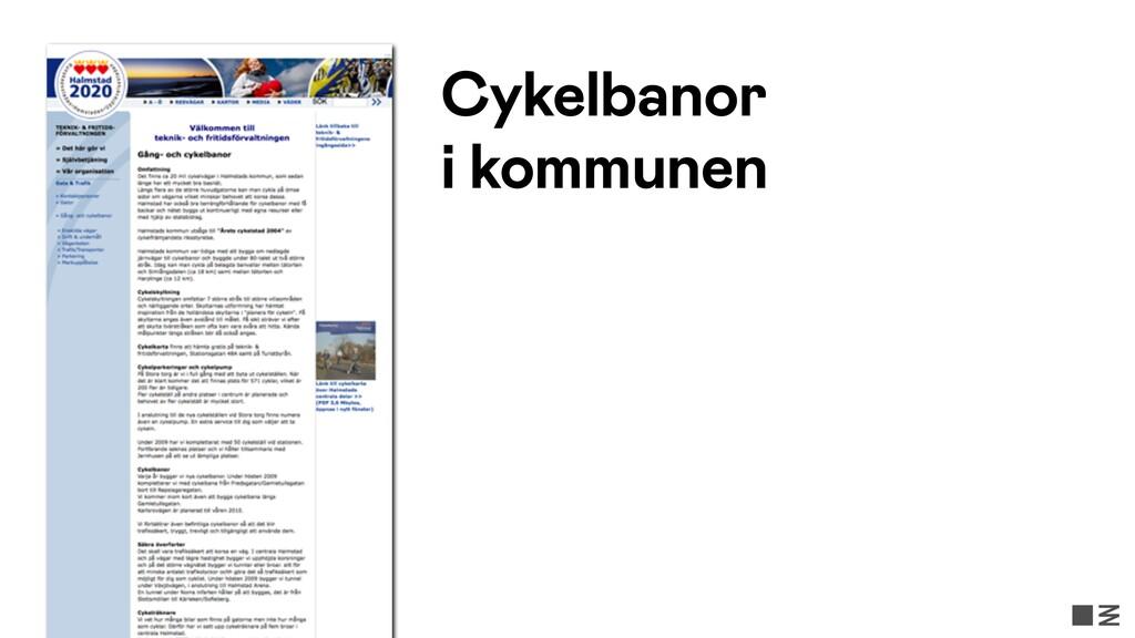 Cykelbanor i kommunen