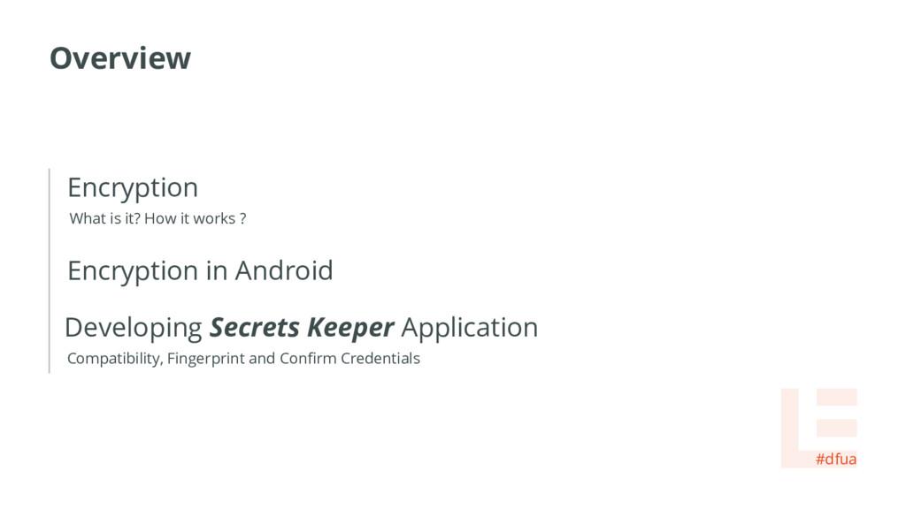 Overview #dfua Developing Secrets Keeper Applic...