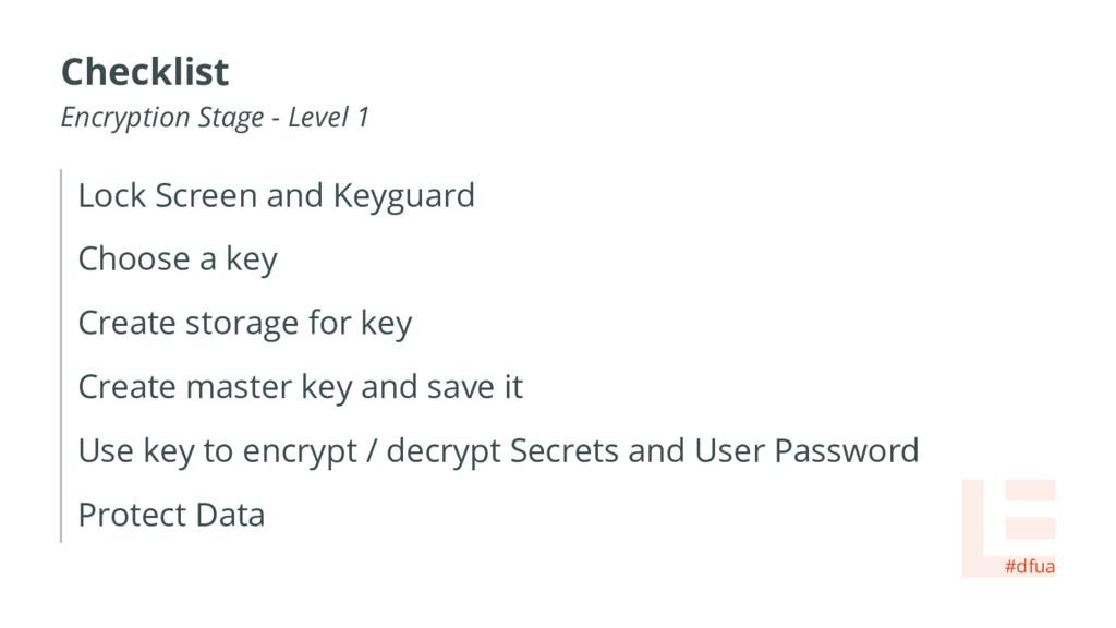 Lock Screen and Keyguard Choose a key Create st...