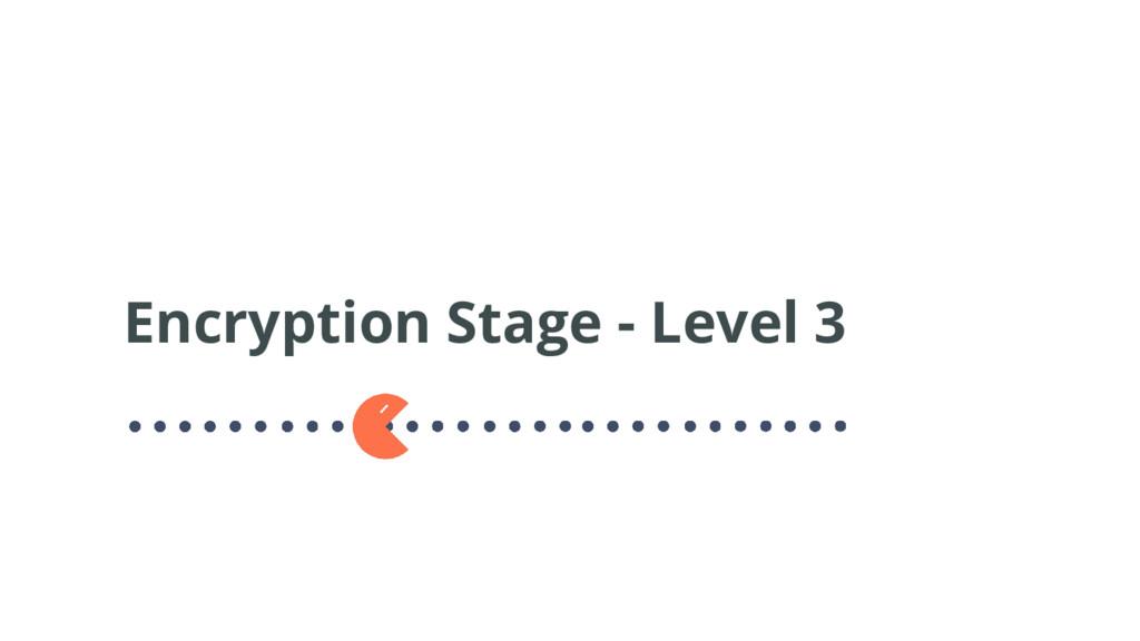 Encryption Stage - Level 3