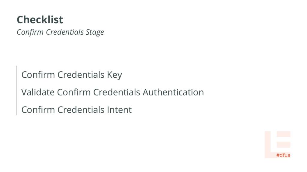 Confirm Credentials Key Validate Confirm Creden...