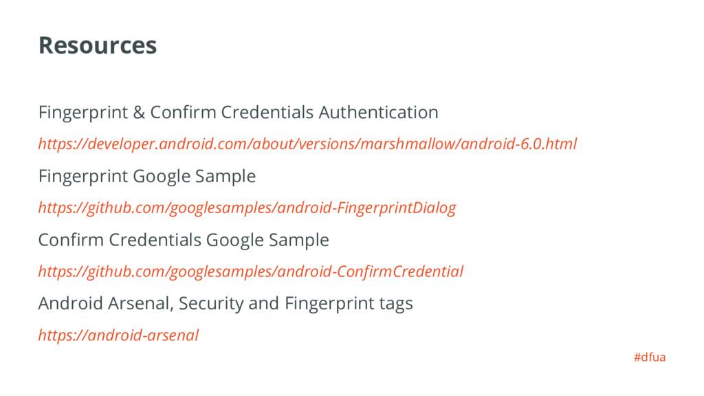 Resources Fingerprint & Confirm Credentials Aut...