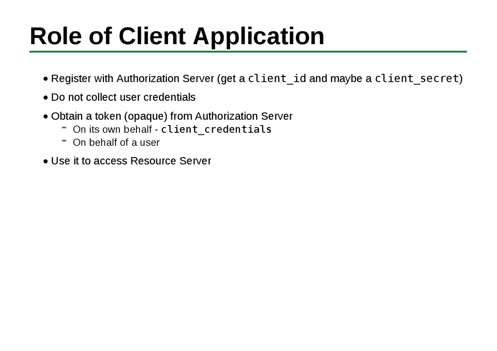 Role of Client Application Register with Author...