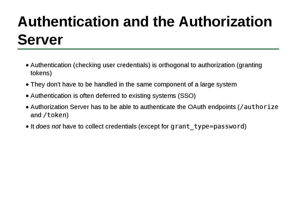 Authentication and the Authorization Server Aut...