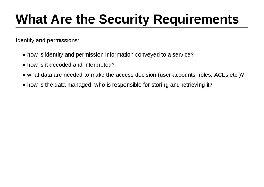 What Are the Security Requirements Identity and...
