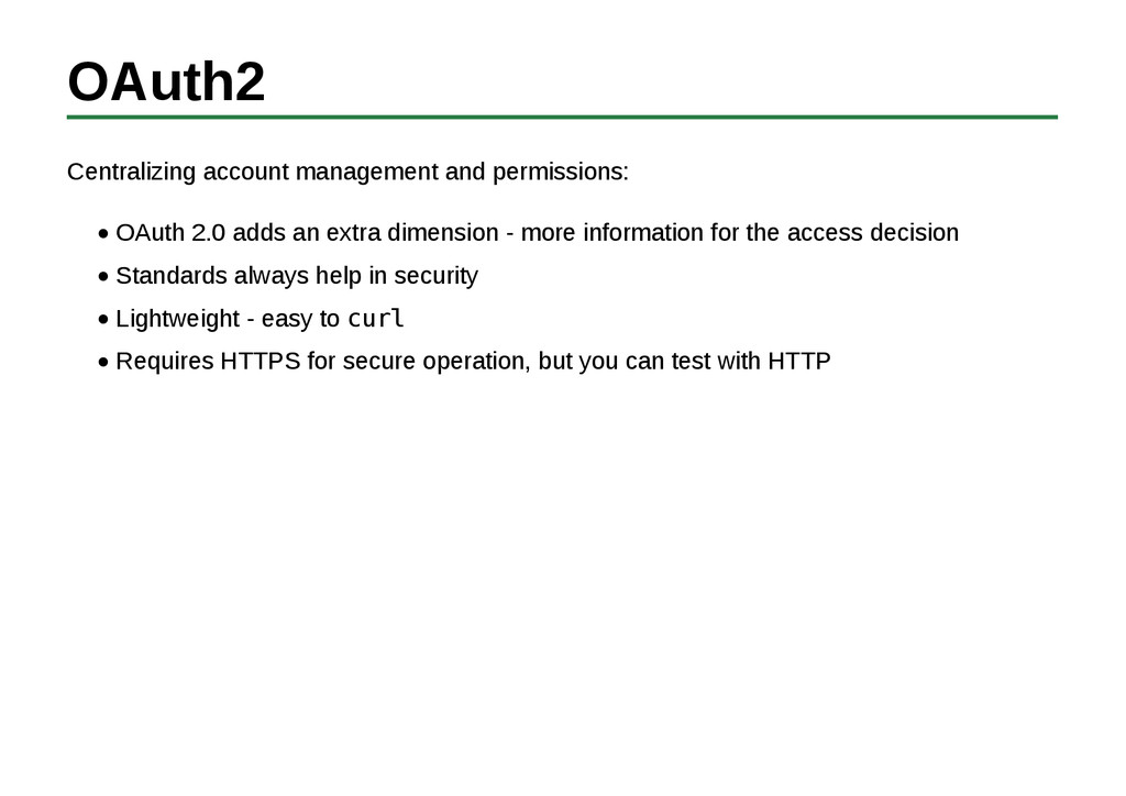 OAuth2 Centralizing account management and perm...