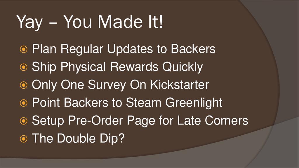 Yay – You Made It!  Plan Regular Updates to Ba...