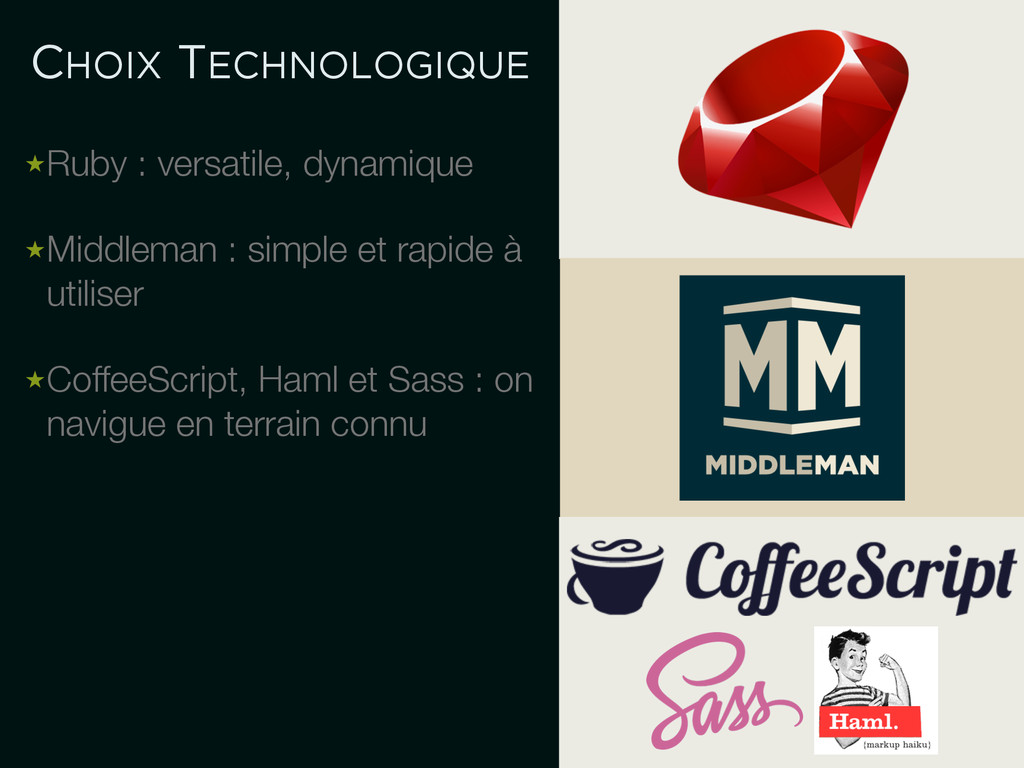 CHOIX TECHNOLOGIQUE ★Ruby : versatile, dynamiqu...