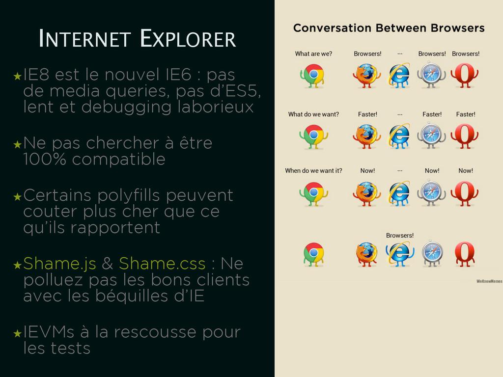 INTERNET EXPLORER ★IE8 est le nouvel IE6 : pas ...