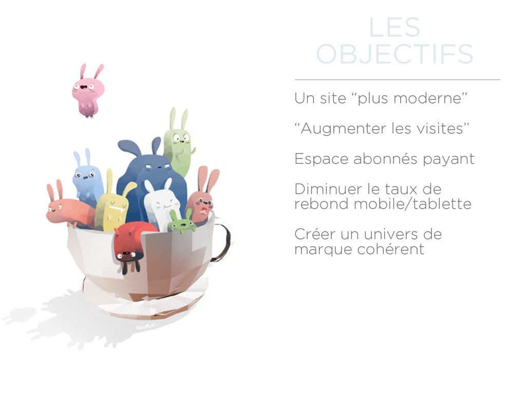 "Un site ""plus moderne"" ""Augmenter les visites"" ..."