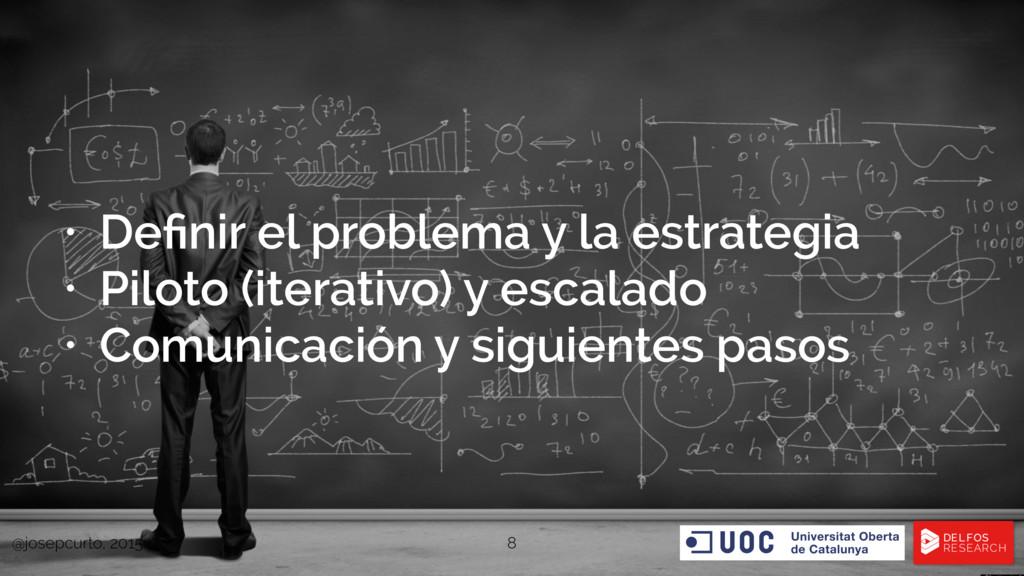 • Definir el problema y la estrategia • Piloto (...