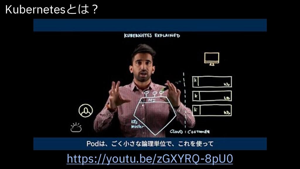https://youtu.be/zGXYRQ-8pU0 Kubernetesとは︖
