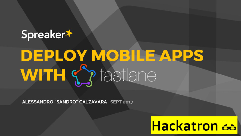 "DEPLOY MOBILE APPS WITH ALESSANDRO ""SANDRO"" CAL..."