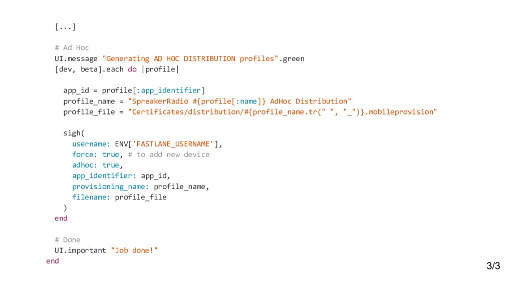 """[...] # Ad Hoc UI.message """"Generating AD HOC DI..."""