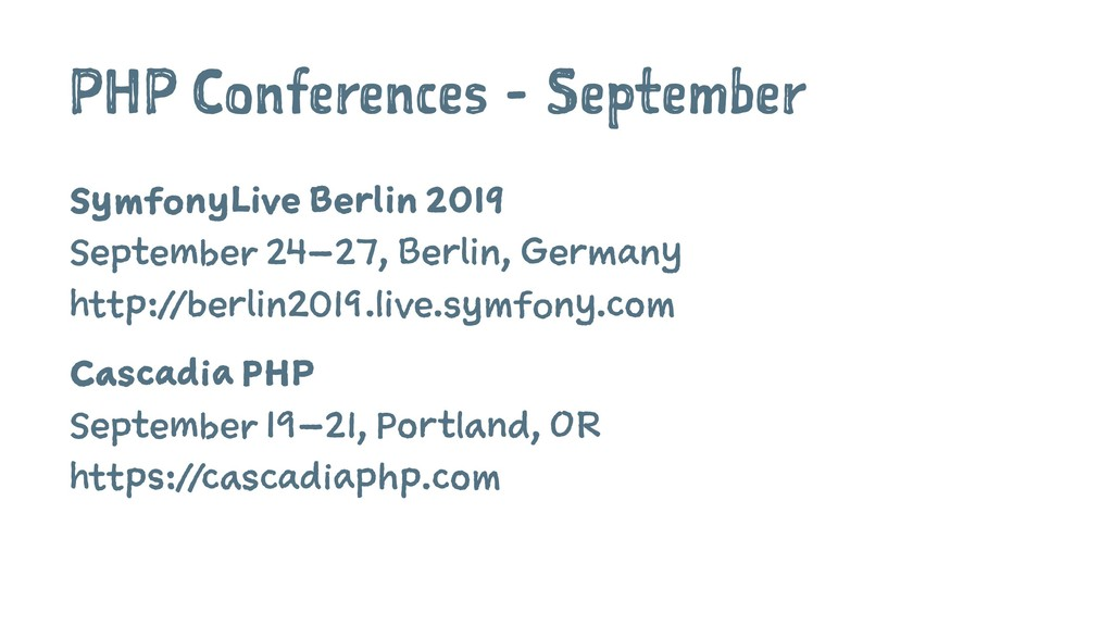PHP Conferences - September SymfonyLive Berlin ...