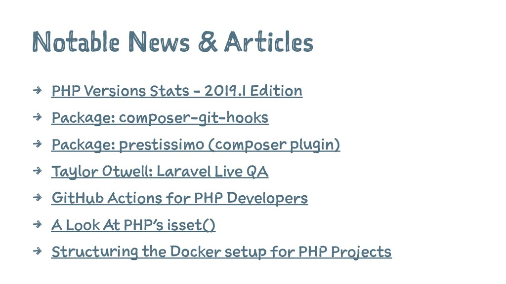 Notable News & Articles 4 PHP Versions Stats - ...