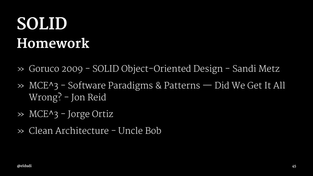 SOLID Homework » Goruco 2009 - SOLID Object-Ori...