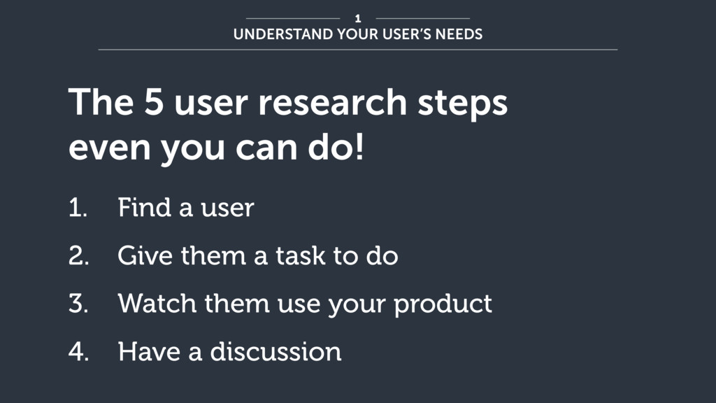 The 5 user research steps even you can do! 1. F...