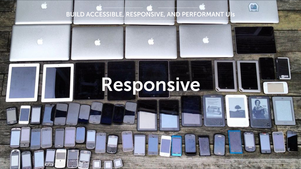 Responsive BUILD ACCESSIBLE, RESPONSIVE, AND PE...