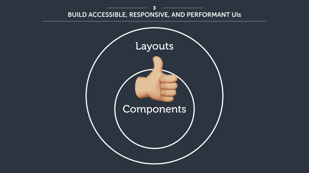 Components Layouts ! 3 BUILD ACCESSIBLE, RESPON...