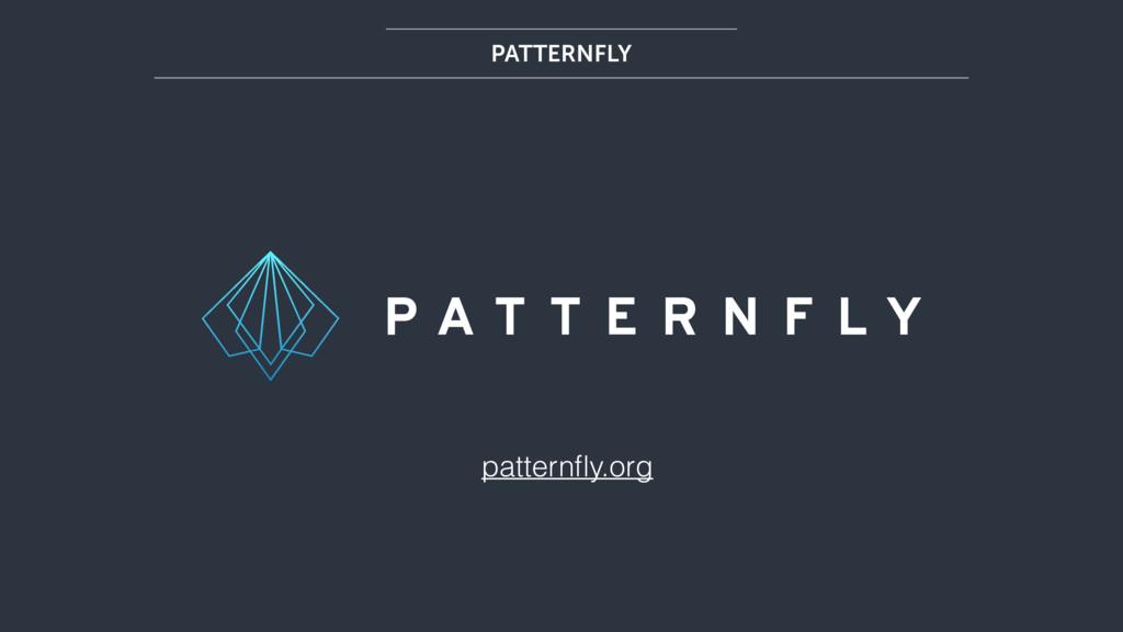 patternfly.org PATTERNFLY