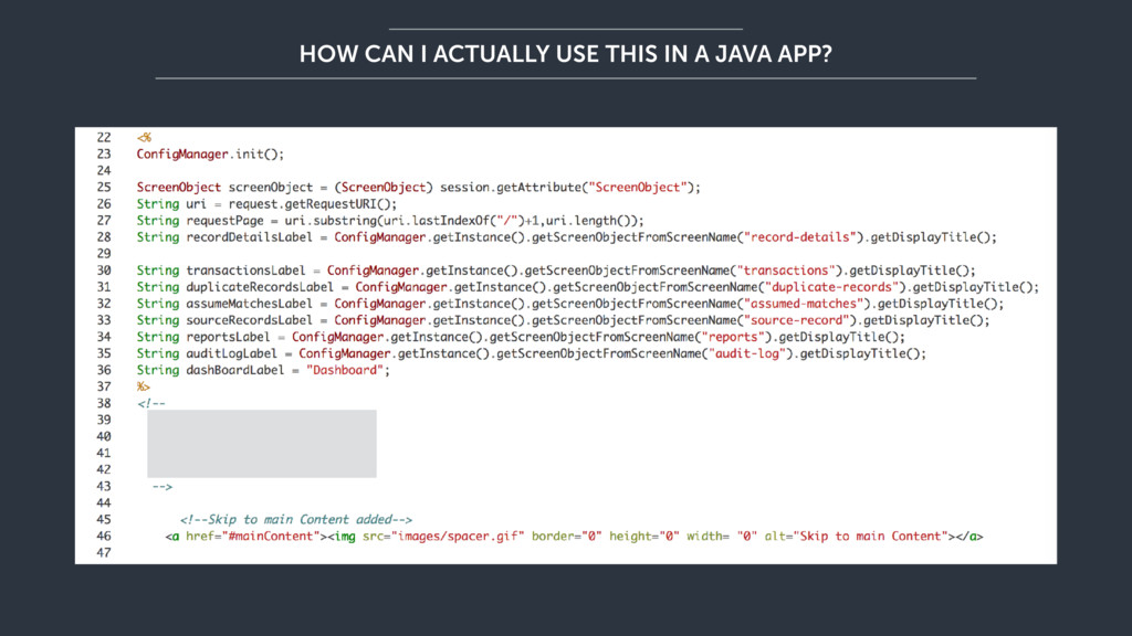 HOW CAN I ACTUALLY USE THIS IN A JAVA APP?