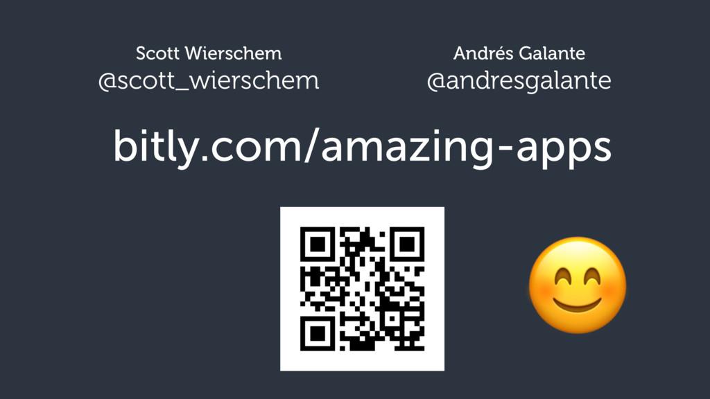 bitly.com/amazing-apps  Scott Wierschem @scott_...