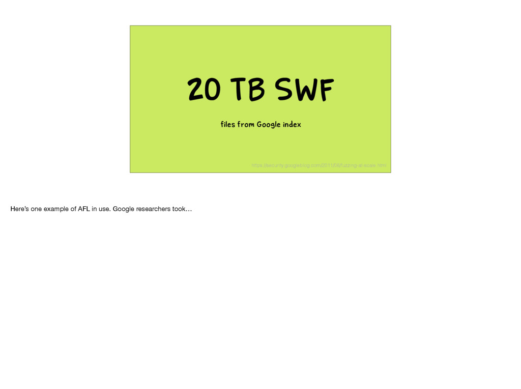 20 TB SWF files from Google index https://secur...