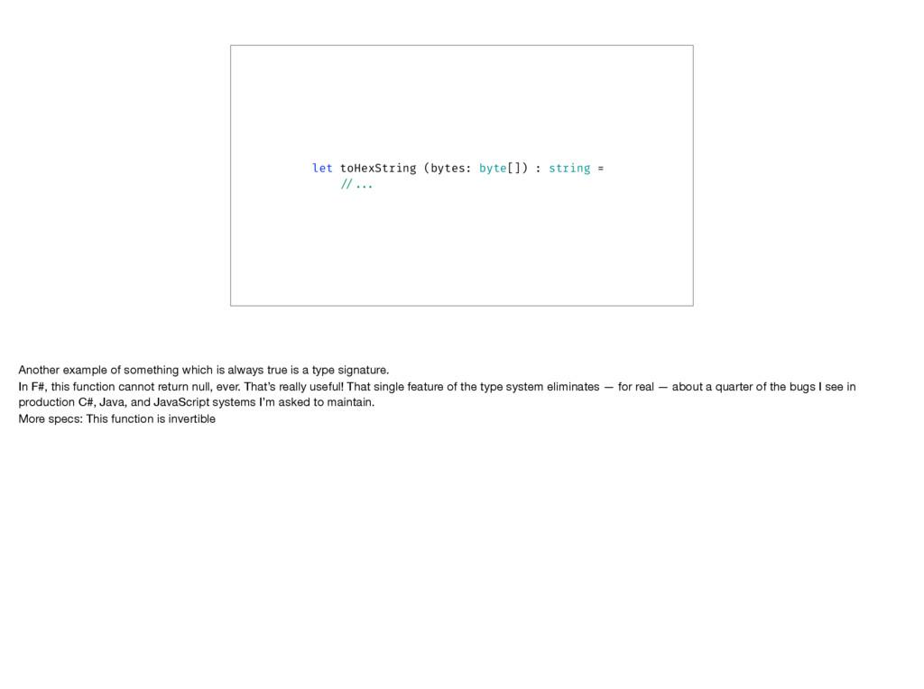 let toHexString (bytes: byte[]) : string = //.....