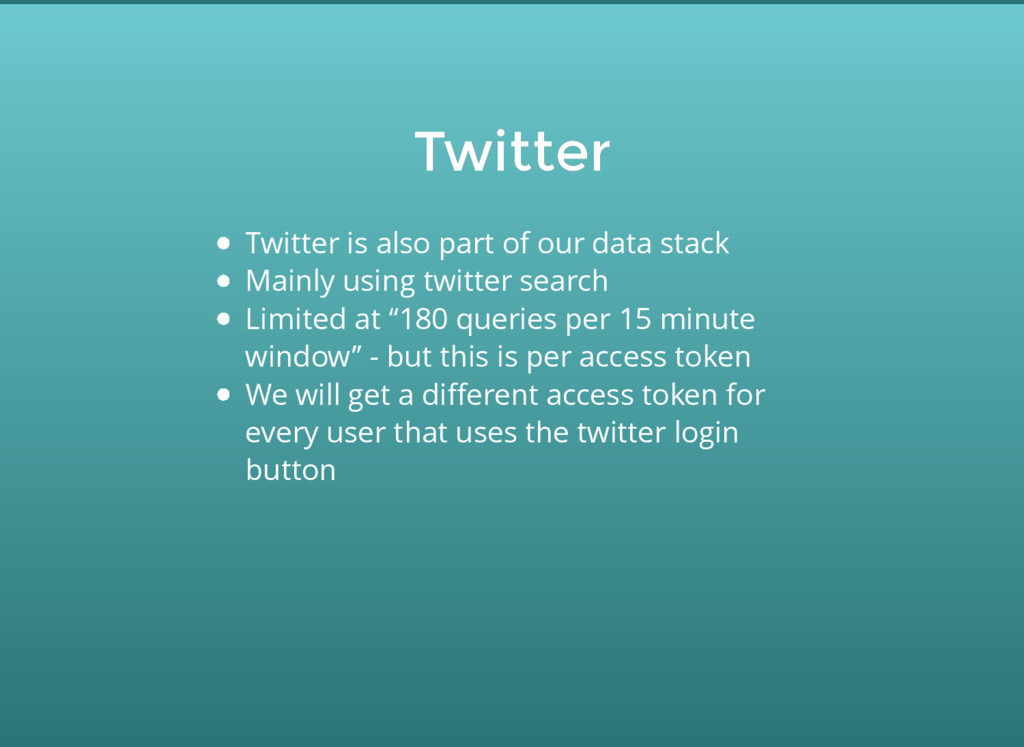 Twitter Twitter Twitter is also part of our dat...