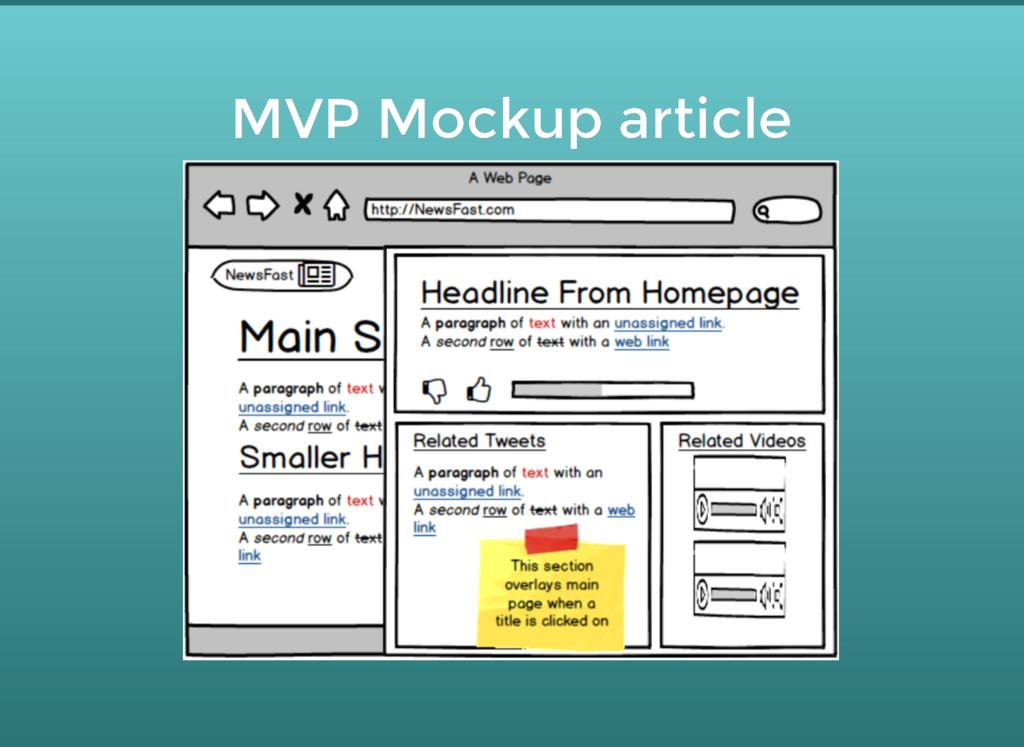 MVP Mockup article MVP Mockup article