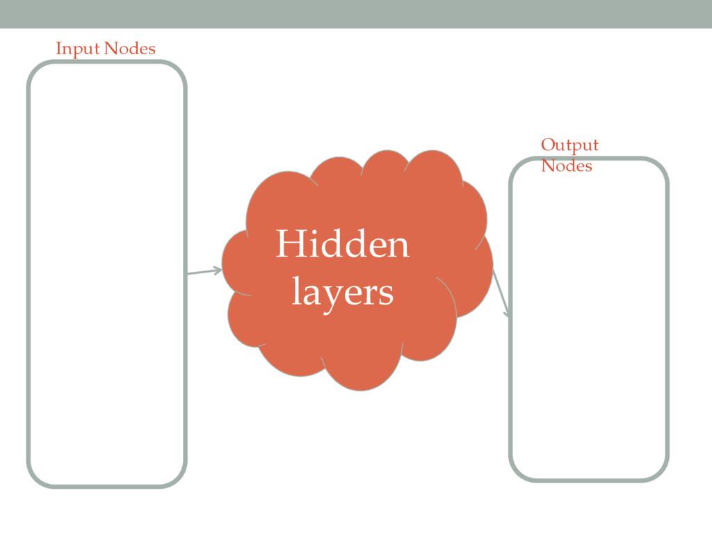 Input Nodes Output Nodes Hidden layers