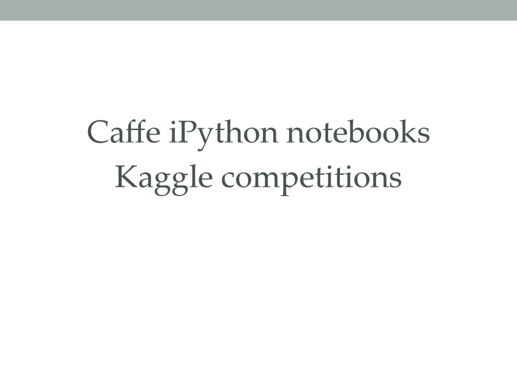 Caffe iPython notebooks Kaggle competitions