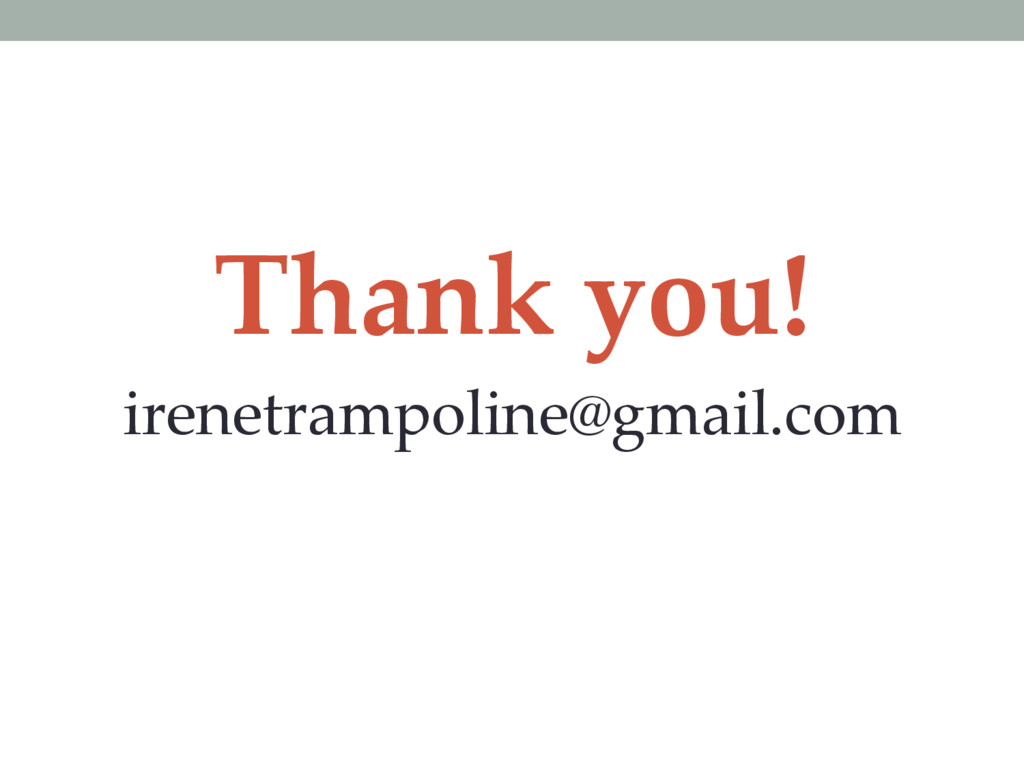 Thank you! irenetrampoline@gmail.com