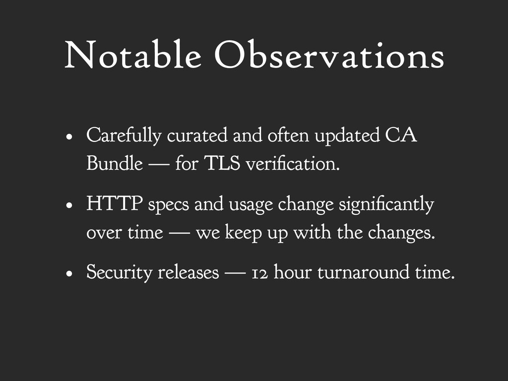 Notable Observations • Carefully curated and of...