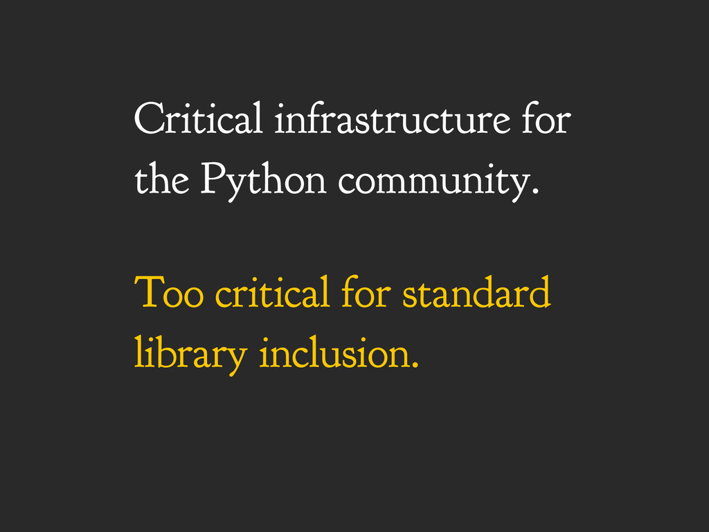 Critical infrastructure for the Python communit...