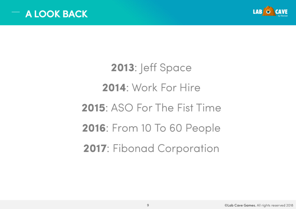 2013: Jeff Space 2014: Work For Hire 2015: ASO ...