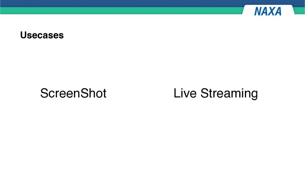 Usecases ScreenShot Live Streaming