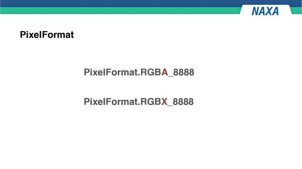 PixelFormat PixelFormat.RGBA_8888 PixelFormat.R...