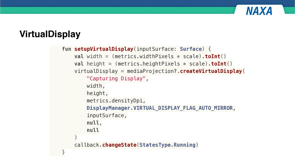 VirtualDisplay fun setupVirtualDisplay(inputSur...