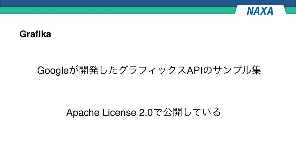 Grafika Google͕։ൃͨ͠άϥϑΟοΫεAPIͷαϯϓϧू Apache Lice...