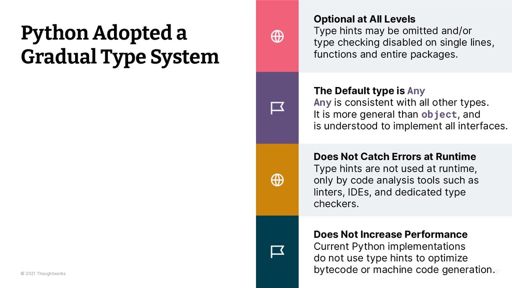 © 2021 Thoughtworks Optional at All Levels Type...