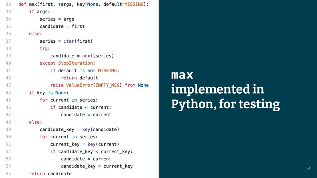 © 2021 Thoughtworks max implemented in Python, ...
