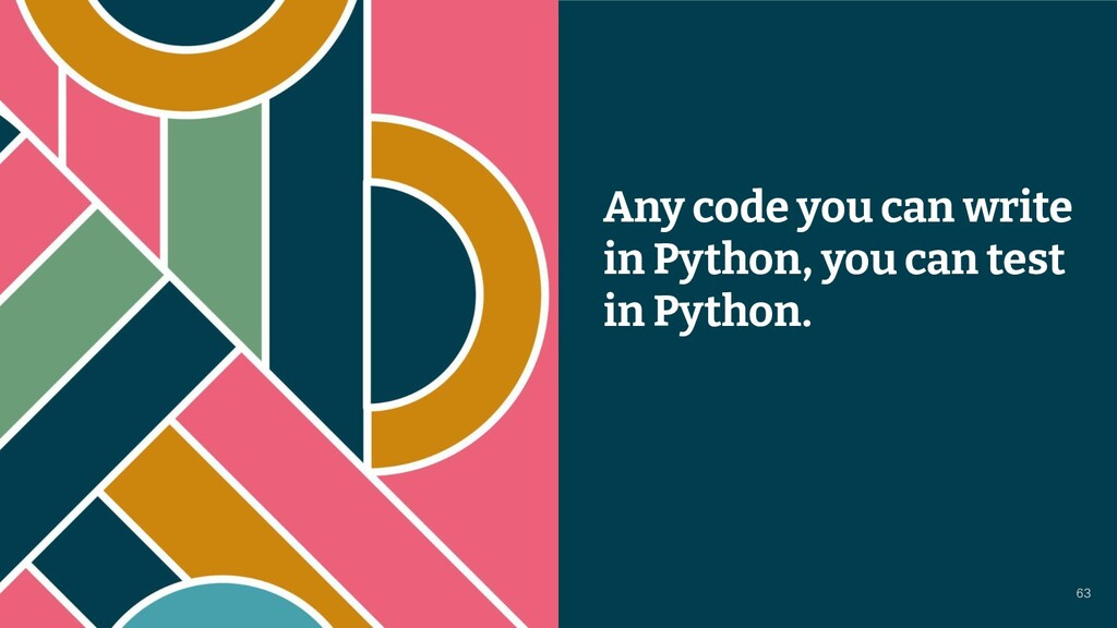 © 2021 Thoughtworks Any code you can write in P...