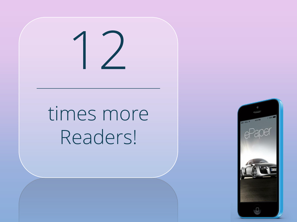 times more Readers! 12