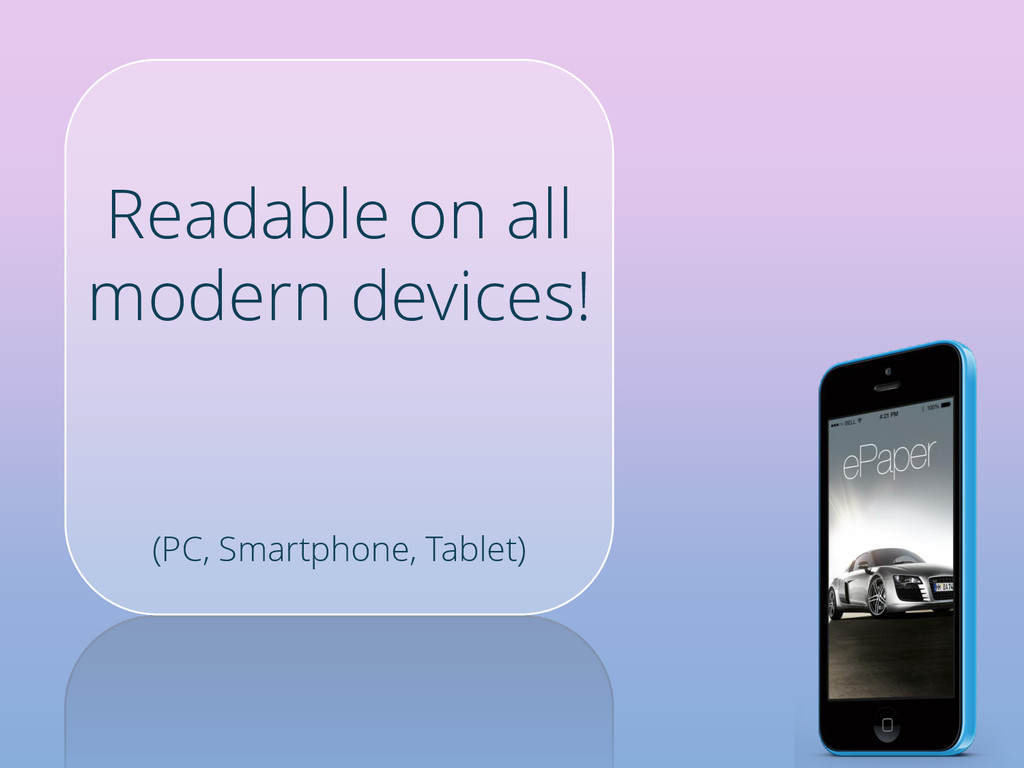 Readable on all modern devices! (PC, Smartphone...