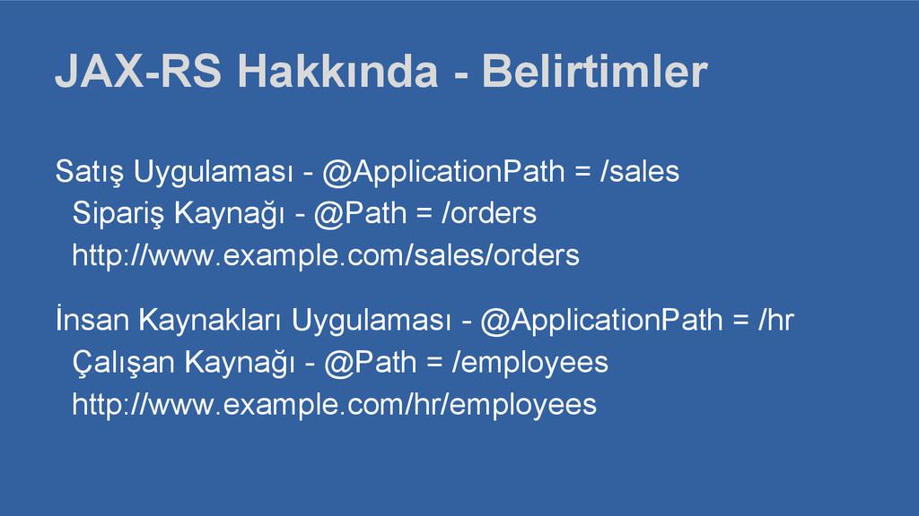 Satış Uygulaması - @ApplicationPath = /sales Si...