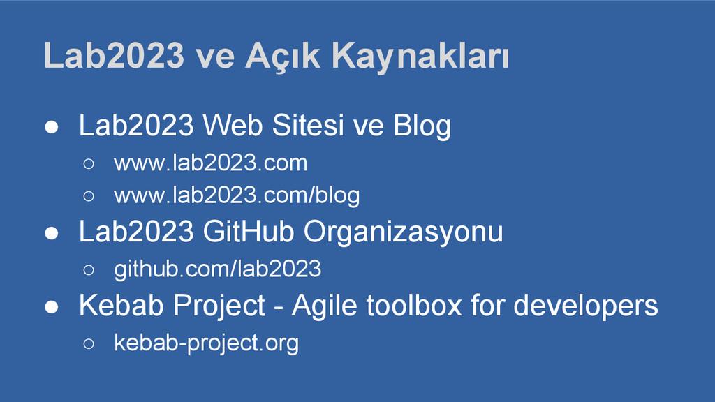 Lab2023 ve Açık Kaynakları ● Lab2023 Web Sitesi...