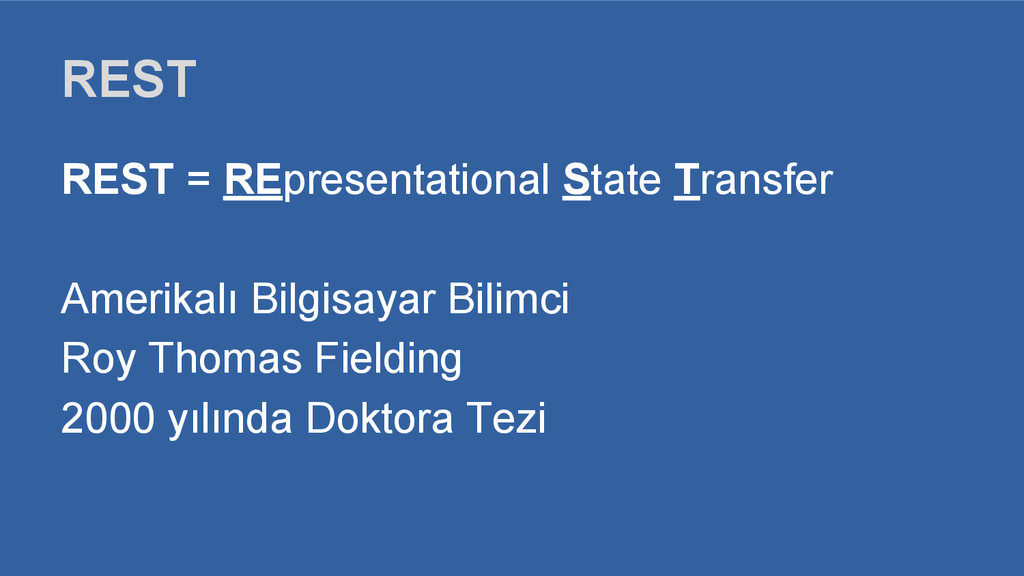 REST REST = REpresentational State Transfer Ame...